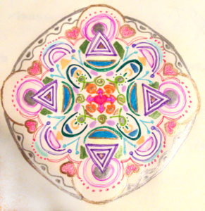 Mandala drawing by Lorine Nemec